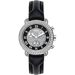 Joe Rodeo Women's Passion Black Leather Strap Diamond Watch|https://ak1.ostkcdn.com/images/products/P12518547.jpg?impolicy=medium
