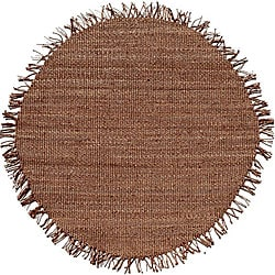 Hand-woven Natural Jute Rug (8' Round)
