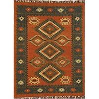 Hand-woven Wool/ Jute Rug (8' x 10'6)