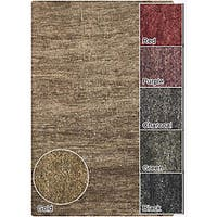 Artist's Loom Hand-woven Casual Solid Natural Eco-friendly Jute Rug (3'6x5'6)