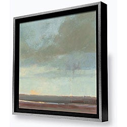 Gallery Direct Kim Coulter 'Viridian Sky II' Framed Canvas Painting