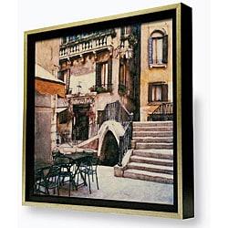 Gallery Direct Ernesto Rodriguez 'Trattoria al Ponte' Framed Canvas Artwork