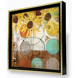 Gallery Direct Judy Paul 'Flowers & Circles II' Framed Canvas Artwork