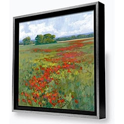 Gallery Direct Kim Coulter 'Red Poppies I' Framed Canvas Artwork