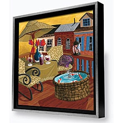 Gallery Direct Susie Webster 'Koi on a Roof' Framed Canvas Art
