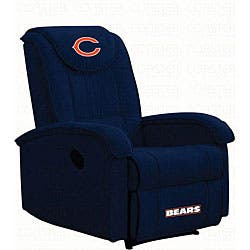 Stupendous Chicago Bears Microfiber Recliner Overstock Com Shopping The Best Deals On Recliners Ocoug Best Dining Table And Chair Ideas Images Ocougorg