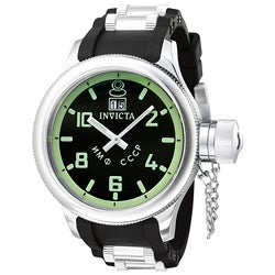 Invicta Men's Russian Diver Black Rubber Strap Watch