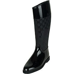 Gucci Women's Black Flat Rain Boots - Free Shipping Today ...