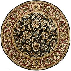 Safavieh Handmade Classic Dark Olive/ Red Wool Rug (8' Round)