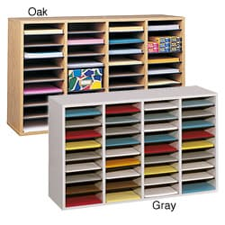 Safco 36-compartment Wood Shelf