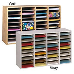Safco 36-compartment Wood Shelf