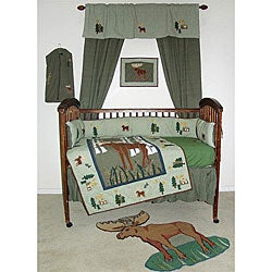 Moose 6 Piece Crib Set Moose 9-piece Crib Set...