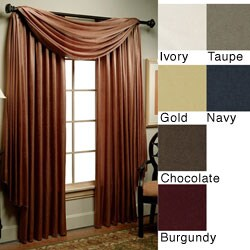 Olympia Silky Soft Curtain 95-inch Panel Pair - Thumbnail 0