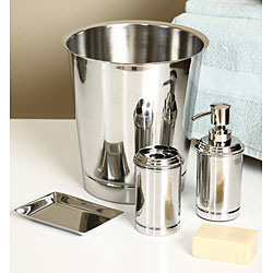 Stainless Steel 4-piece Bath Accessory Set - Thumbnail 0