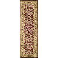 Safavieh Handmade Classic Red/ Gold Wool Runner Rug - 2'3 x 12'