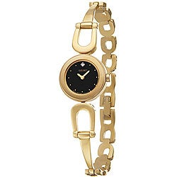 Seiko Women's SUJE70 Goldplated Steel Diamond Watch