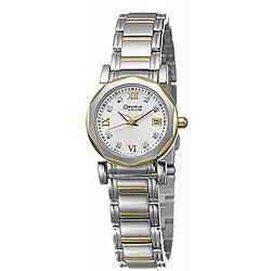 Caravelle Women's 'Diamond' Stainless Steel Two-tone Watch