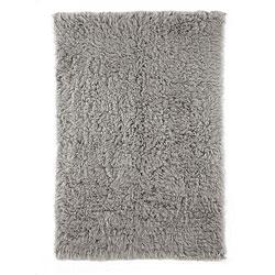 Thumbnail 1, Alexa Standard Natural Grey Flokati New Zealand Wool Shag Rug (3' x 5').