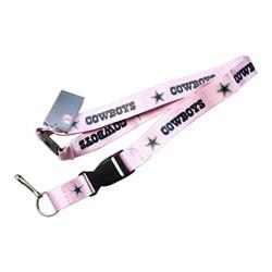 Dallas Cowboys Pink Lanyard Keychain/ ID Clip - Thumbnail 0
