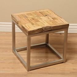 Reclaimed Wood Mumbai End Table (India) - Thumbnail 0