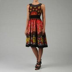 Thumbnail 1, Studio West Women's Sleeveless Printed Dress.