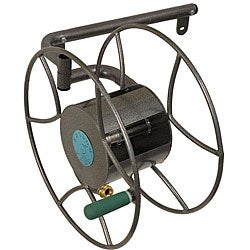 Yard Butler Wall Mount Hose Reel 100 ft. Silver