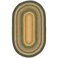 Safavieh Hand-woven Indoor/Outdoor Reversible Multicolor Braided Rug - 4' x 6' oval