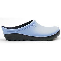Sloggers Women's Geisha Blue Foam Resin Clogs (Size 7)
