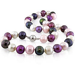 Multi-colored Freshwater Pearl Necklace (11-12 mm)