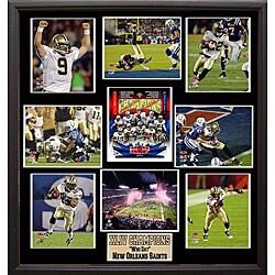 Super Bowl XLIV Champion New Orleans Saints 9-photo Plaque - Thumbnail 0