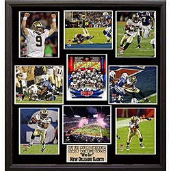 Super Bowl XLIV Champion New Orleans Saints 9-photo Plaque