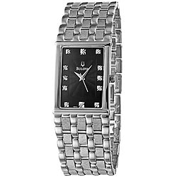 bulova diamond stainless steel men s watch shipping today bulova diamond stainless steel men s watch