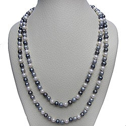 Multi-colored Freshwater Pearl 48-inch Endless Necklace (7-7.5 mm)