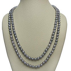 DaVonna 7-8mm Grey Freshwater Pearl Endless Necklace, 72""