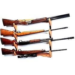 San Angelo 4 gun Wood Wall Rack Free Shipping On Orders