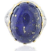 Michael Valitutti 18k Vermeil and Sterling Silver Lapis and Sapphire Ring
