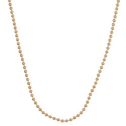 Caribe 14k Gold over Silver 18-inch Ball Chain (2 mm) - Thumbnail 0