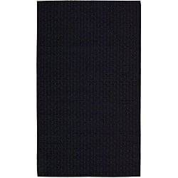 Nourison Hand-tufted Great Outdoor Black Wool Rug (3' x 5')