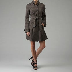 Thumbnail 1, Black Rivet Women's Belted Bow Trench Coat.