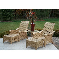 Shop Azria Collection 5-piece All-weather Wicker Patio ... on Safavieh Outdoor Living Granton 5 Pc Living Set id=81650