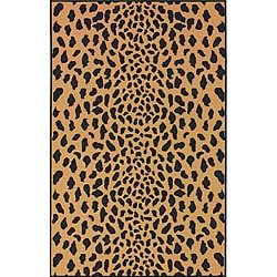 Thumbnail 1, nuLOOM Infiniti Collection Leopard Animal Print Gold Rug (4'5 x 6'9).