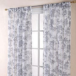 White 84 Inch Sheer Curtain Panels
