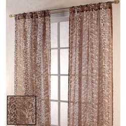 Shop Leopard Print 84 Inch Sheer Curtain Panel Pair Overstock