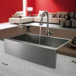 Shop Vigo Farmhouse 33 Inch Stainless Steel Kitchen Sink