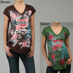 a96ed04af4d594 Shop Siren Lily Women's Maternity Print Top - Free Shipping On Orders Over  $45 - Overstock - 4741106