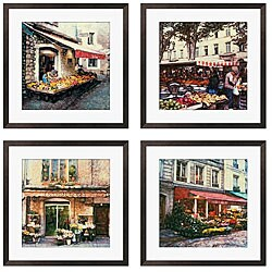 Gallery Direct Rodriguez 'Allant Faire Les Courses Series' Giclee Art (Set of 4)