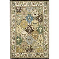 Safavieh Handmade Sumak Taupe Wool Rug - 4' x 6'