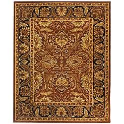 Safavieh Handmade Classic Jaipur Rust/ Black Wool Rug (7'6 x 9'6)