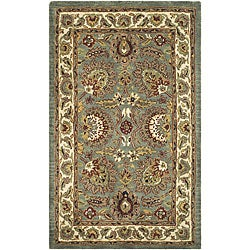 Safavieh Handmade Classic Heirloom Light Blue Wool Rug (3' x 5')
