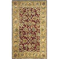 Safavieh Handmade Classic Rust/ Beige Wool Rug (5' x 8')